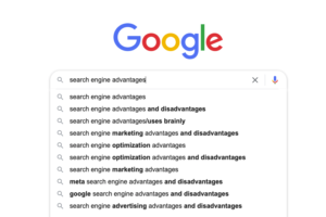 What is search engine write their advantage?