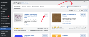 Install and Activate the Pinterest Pin-it Button Plugin